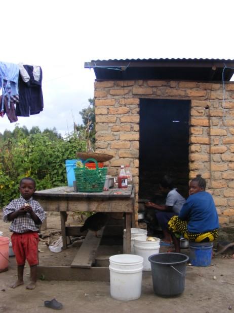 keuken bij ons huis in Mbeya, Tanzania