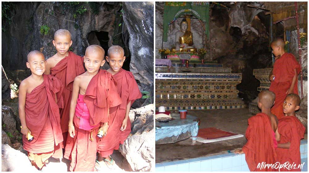 Grot Inle meer monniken in Myanmar