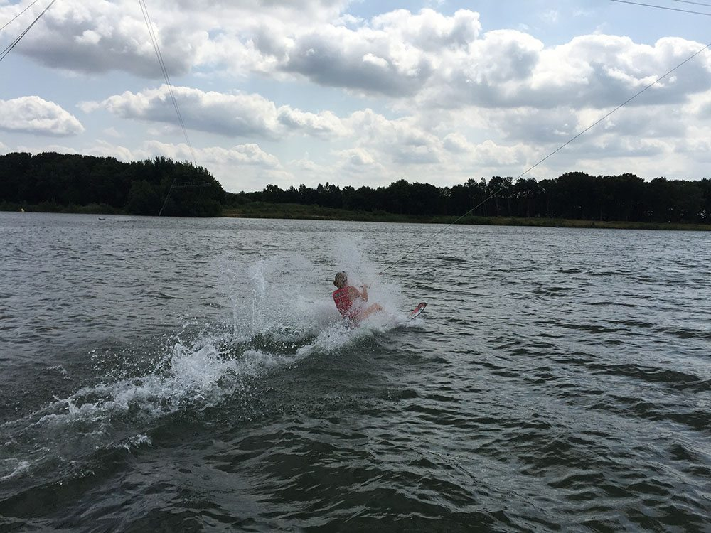 Waterskiën in Zeumeren, Gelderland