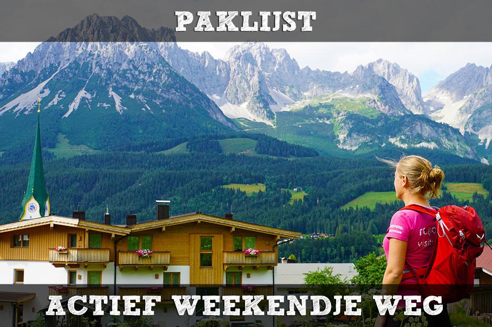 Paklijst Voor Een Actieve Vakantie In Het Buitenland Handige Checklist