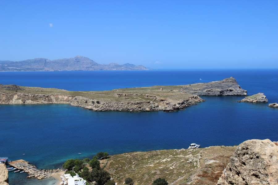 Rhodos blog - uitzicht vanaf de acropolis van Lindos