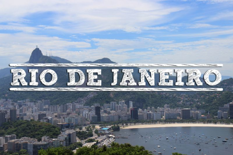 Rio de Janeiro Brazilie-uitgelicht