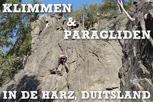 klimmen en paragliden in de Harz