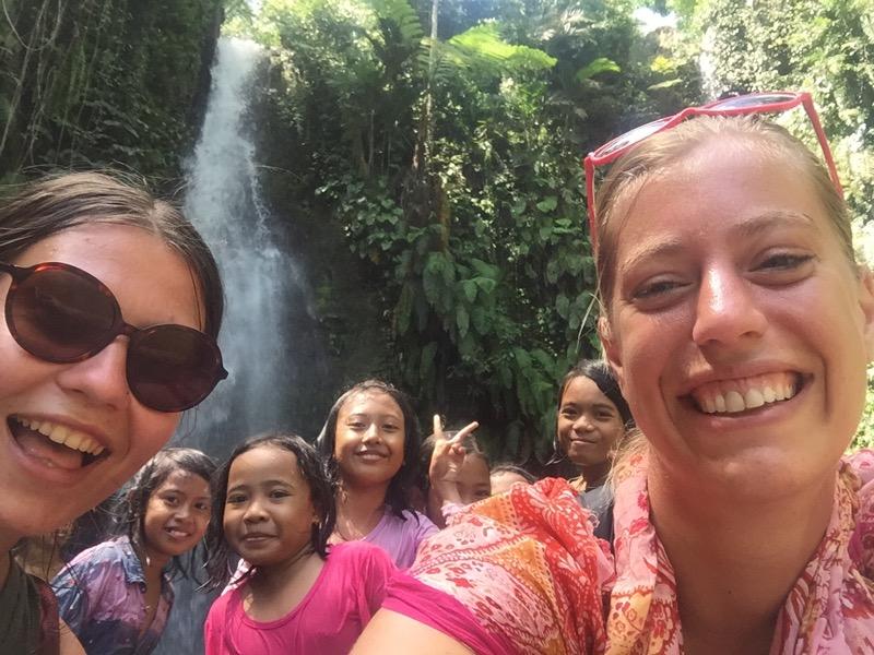 Photobomb waterval Lombok