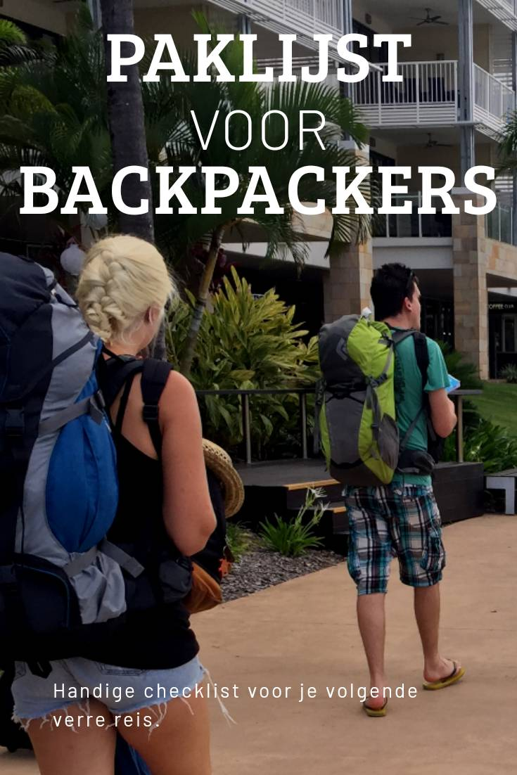 Paklijst voor backpackers