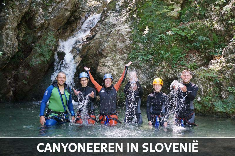 Canyoneeren Soca vallei Slovenie thumb