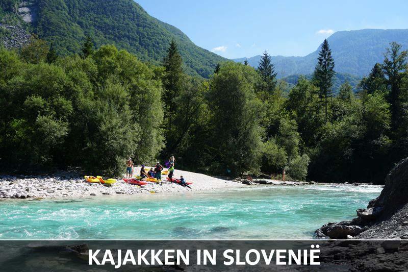 Kajakken Soca vallei Slovenie thumb