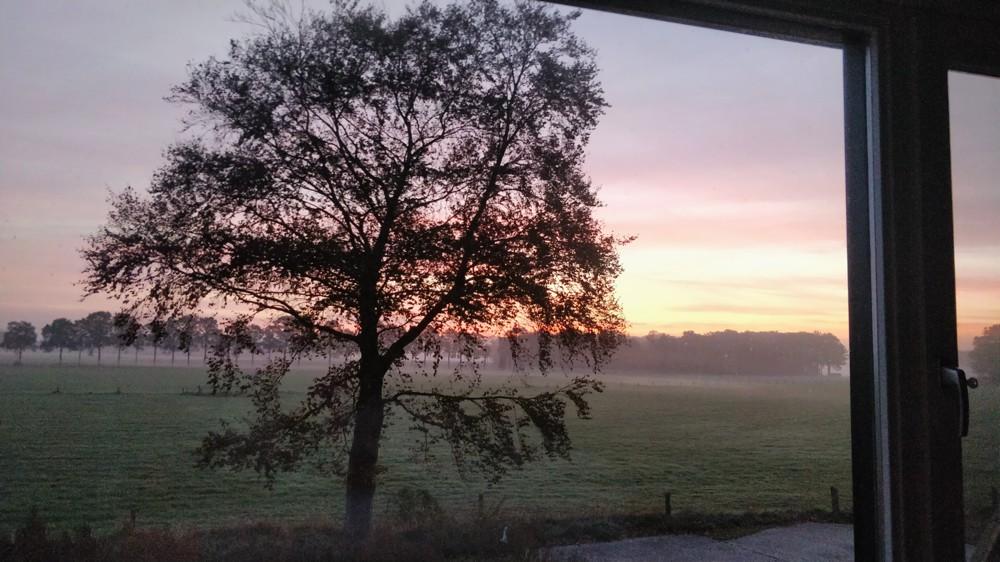 zonsopkomt vanuit Woeste Wieven