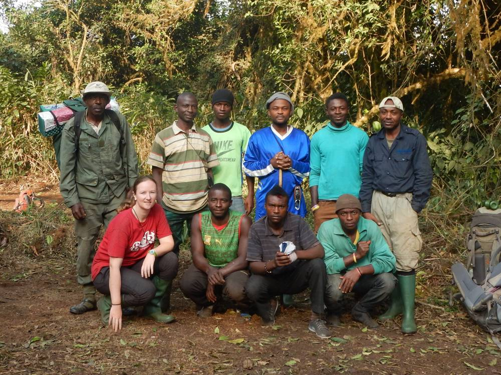 Kameroen – Camera trap team op mount cameroon, 2016