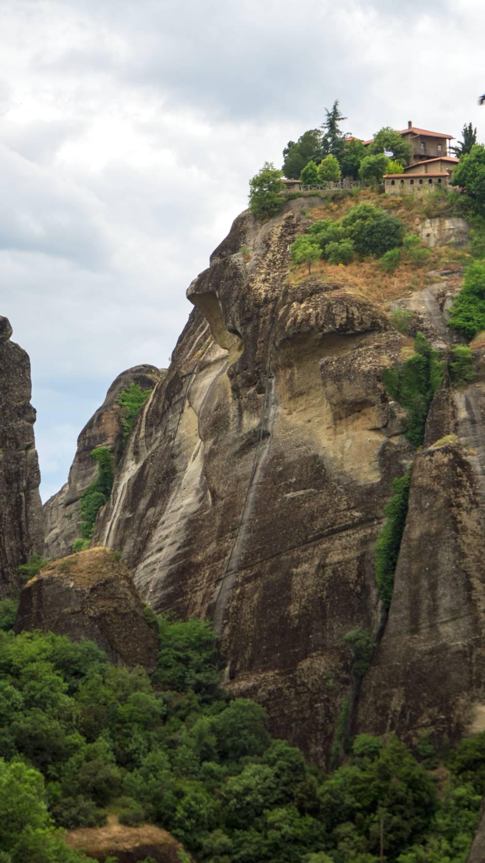 Meteora rotsen met kloosters 161d