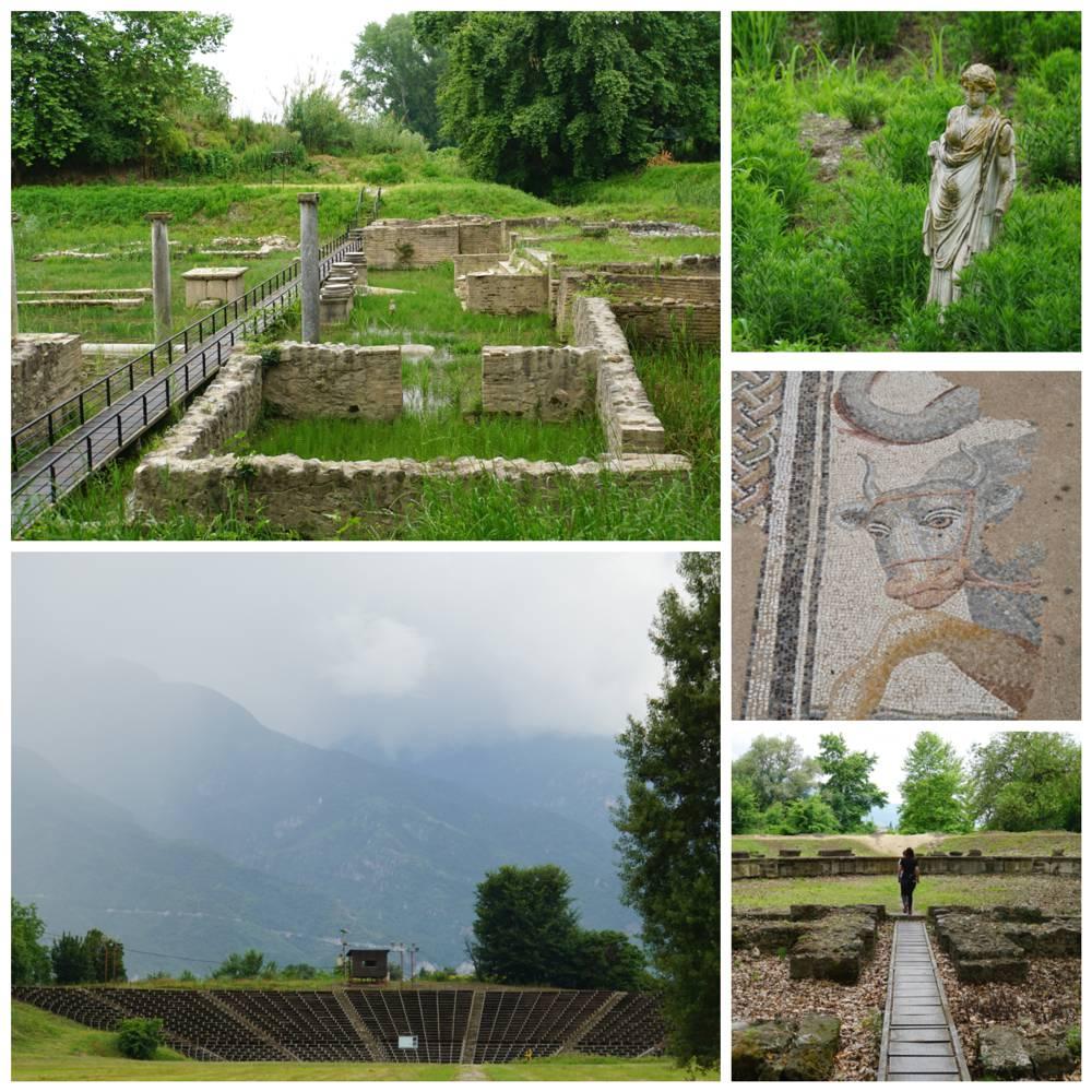 Opgravingen bij Dion Olympus Griekenland