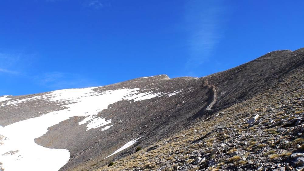 Uitzicht op de top van mount Olympus