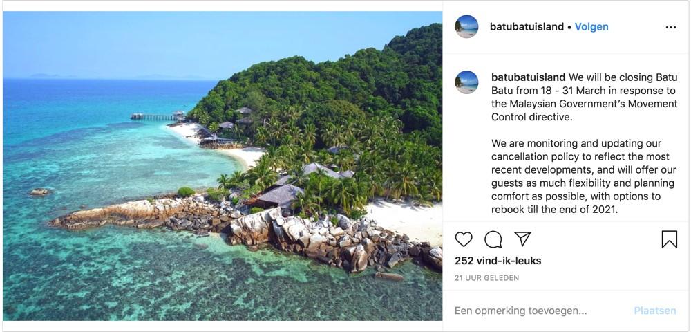 Batu-Batu-Island-Maleisie-gesloten-ivm-coronavirus